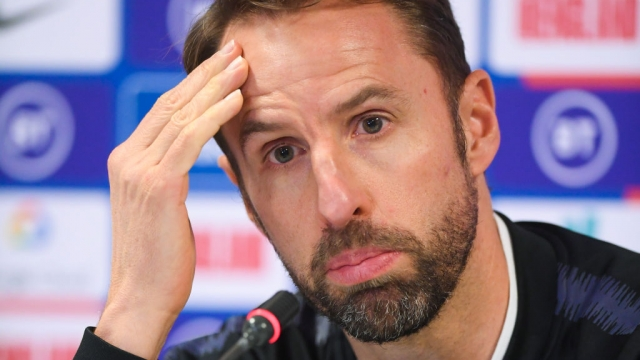 England manager Gareth Southgate speaks to the press on 16 November 2019 in Pristina, Kosovo (Getty Images)