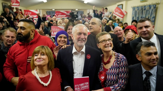 Labour Party leader Jeremy Corbyn campaigns in Dudley after the manifesto launch. (Photo by Christopher Furlong/Getty Images)