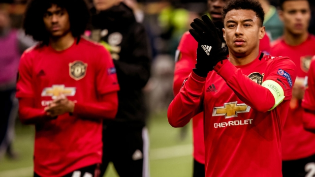 Article thumbnail: Jesse Lingard of Manchester United walks off after the UEFA Europa League match against FK Astana (Manchester United via Getty Images)