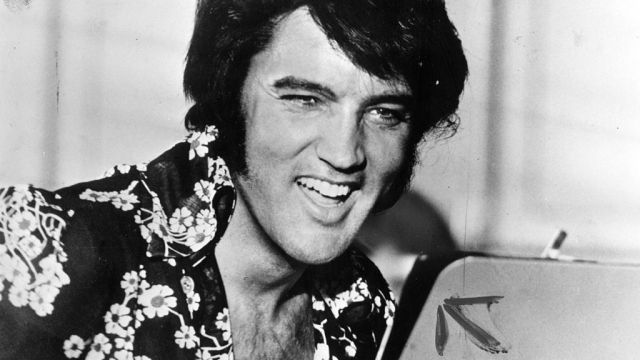Elvis Presley, circa 1975, whose wages beyond the grave outstrip that of his female rivals