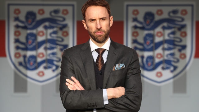 LONDON, ENGLAND - DECEMBER 01: Gareth Southgate poses in front of the tunnel as he is unveiled as the new England manager at Wembley Stadium on December 1, 2016 in London, England. (Photo by Julian Finney/Getty Images)