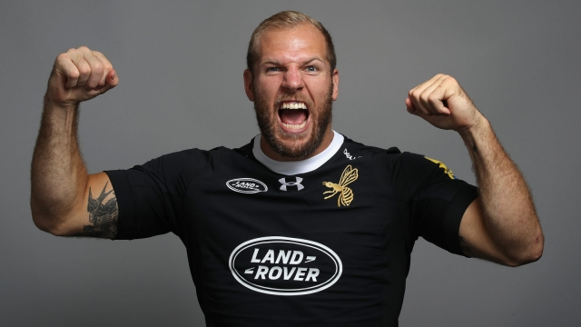 James Haskell of Wasps poses for a portrait during the Wasps photocall for the 2017-2018 Aviva Premiership Rugby season
