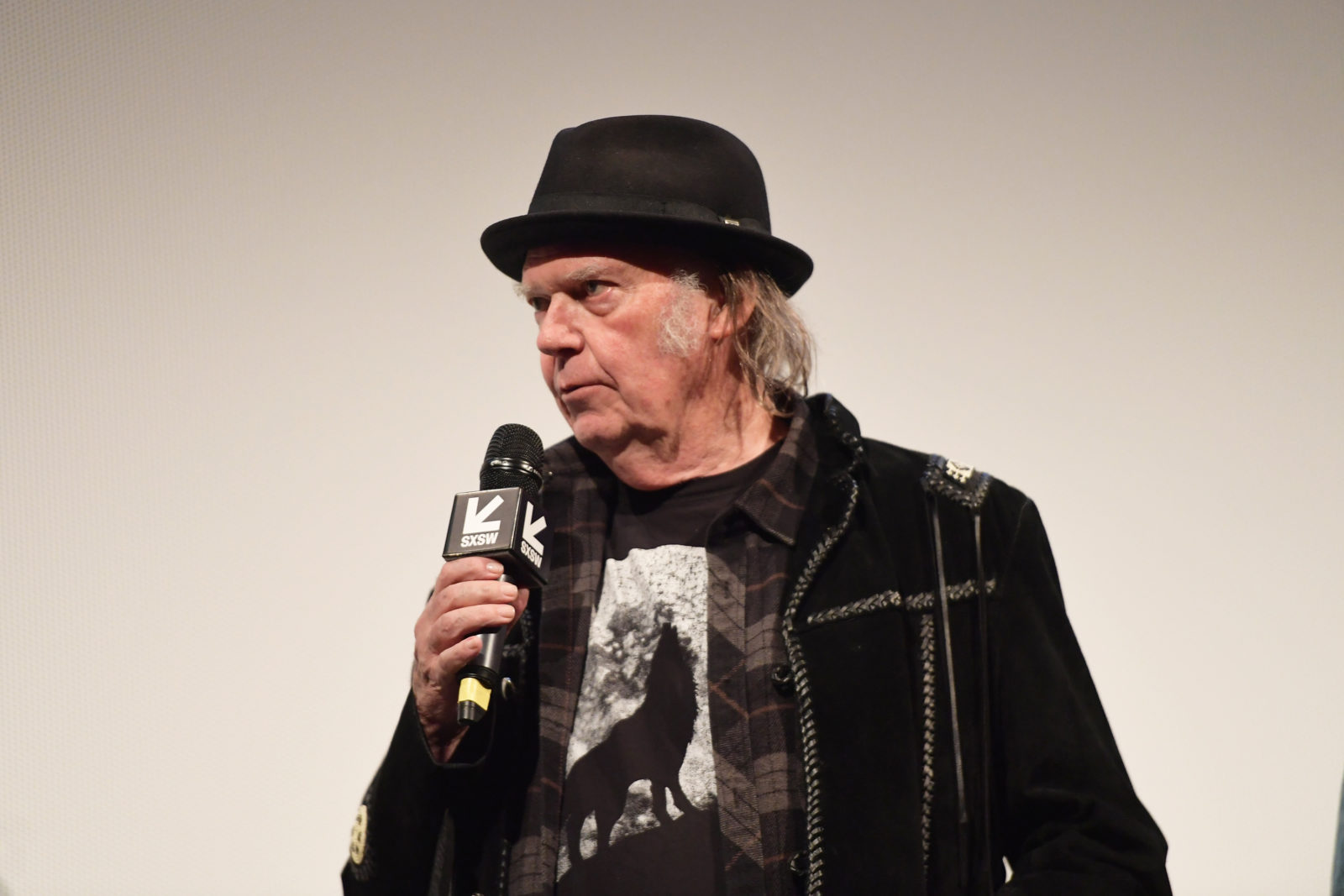 "AUSTIN, TX - MARCH 15: Neil Young attend the ""Paradox"" Premiere 2018 SXSW Conference and Festivals at Paramount Theatre on March 15, 2018 in Austin, Texas. (Photo by Matt Winkelmeyer/Getty Images for SXSW)"