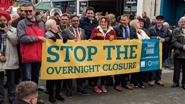 NHS supporters have regularly taken to the streets over the last year to stop planned changes to local hospitals in Telford and Shrewsbury.