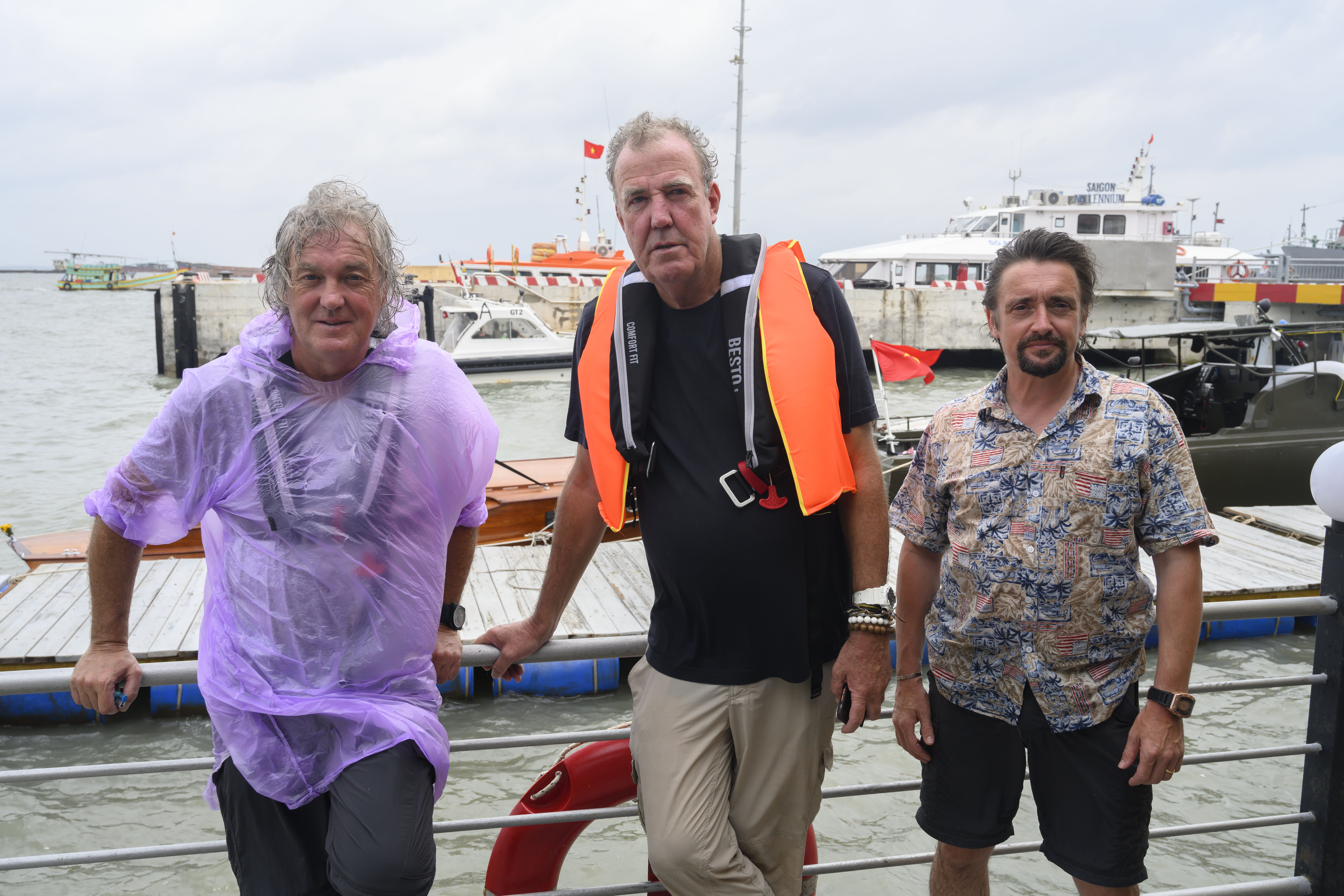 Jeremy Clarkson, James May, Richard Hammond head into choppy waters in The Grand Tour (Photo: Amazon Prime)