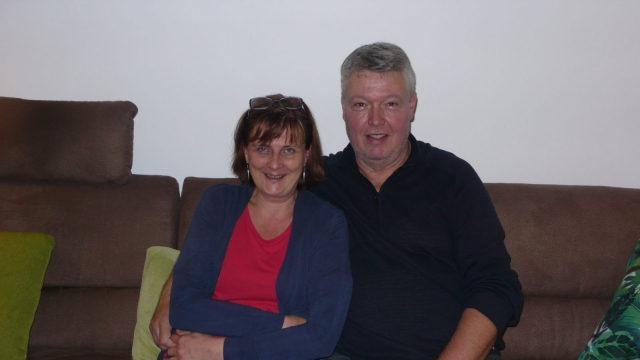 Theresa Westphal, from the East, and Heinz-Jürgen, from the West