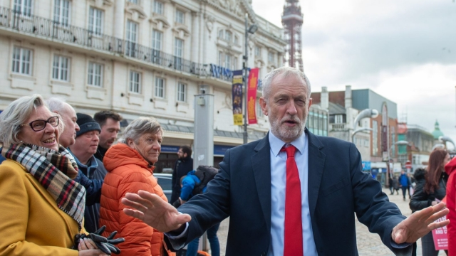 Jeremy Corbyn campaigns in Blackpool as Labour announce NHS funding plans