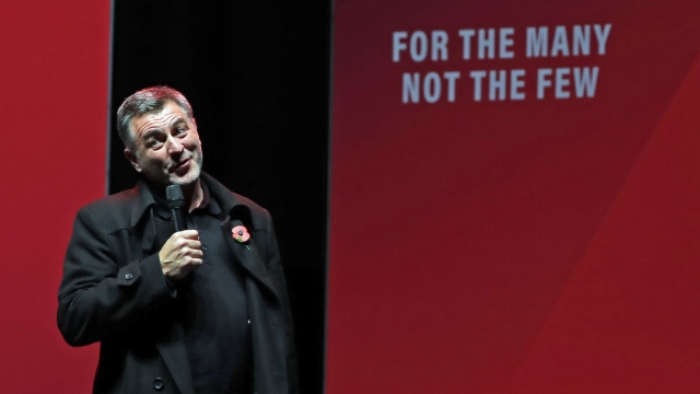 Ian Byrne, Labour candidate for West Derby, addresses a Labour rally at the o2 Academy in Manchester (Photo: Peter Byrne/PA Wire)