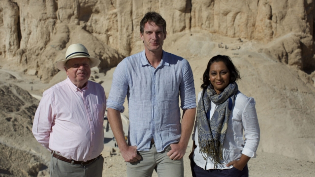 John Sergeant, Dan Snow, Raksha Dave travelled to Egypt to tell the story of the life, death and discovery of Tutankhamun