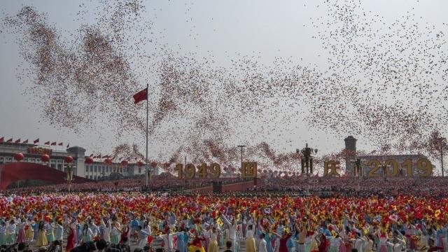Seventieth anniversary celebrations in Tiananmen Square, Beijing