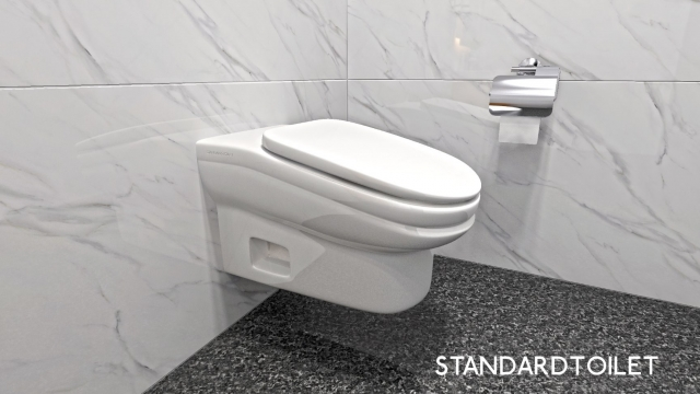 The StandardToilet has been created to make it less comfortable for users to linger (Photo StandardToilet )