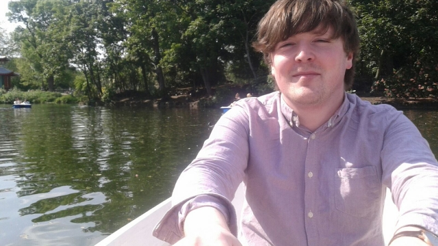 Karl McDonald in Regent's Park in the summer of 2013 - fresh off one boat and on to another one