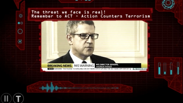 A scene from the ACT course featuring the MI5 Director General Andrew Parker