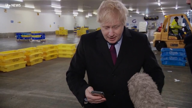 On Thursday, Boris Johnson took reporter Joe Pike's phone during an interview after being shown a photo of 4-year-old waiting for treatment on hospital floor (Photo: ITV News)