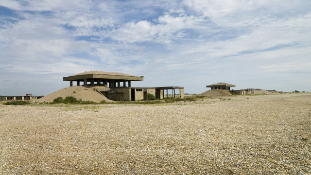 Atomic Weapons Research Establishment, Orfordness, Suffolk. E2 and E3 Vibration Test Buildings