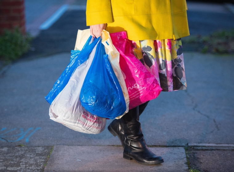 The plastic bag charge of 5p has been effective in cutting down usage (Photo: PA)