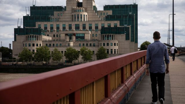 Article thumbnail: The MI6 headquarters as viewed from Vauxhall Bridge (Photo: Getty)