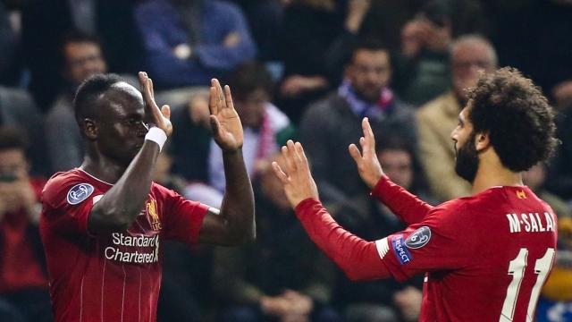Liverpool stars Sadio Mane and Mohammed Salah