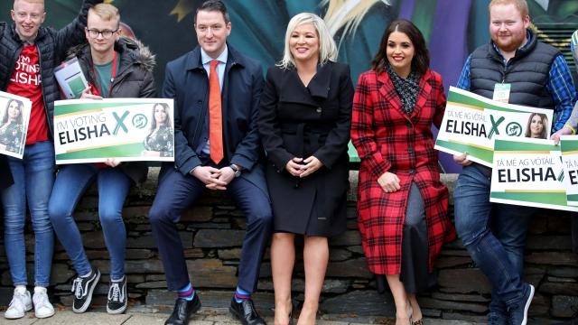 Voters deserted Sinn Féin's Elisha McCallion, pictured second right next to Michelle O'Neill, en masse during the election