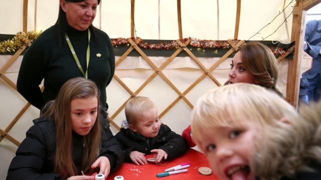 Freddie Rusbridge photobombed the Duchess of Cambridge at a Christmas tree farm