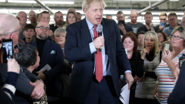 Boris Johnson campaigning in Derbyshire