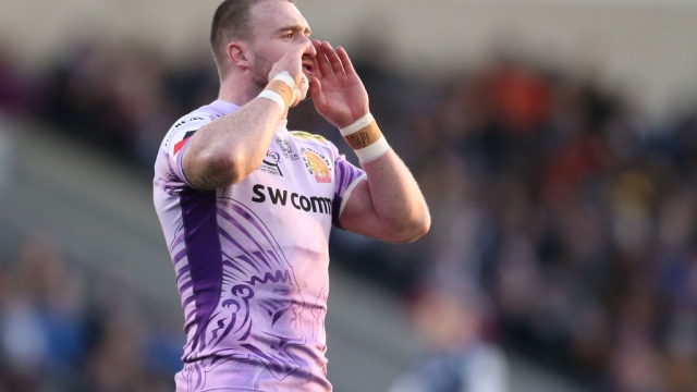 Stuart Hogg of Exeter Chiefs against Sale Sharks at AJ Bell Stadium on 8 December 2019 (Getty Images)