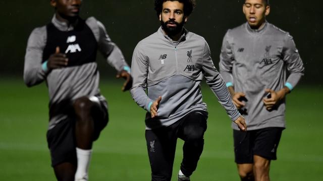 Liverpool train in Qatar