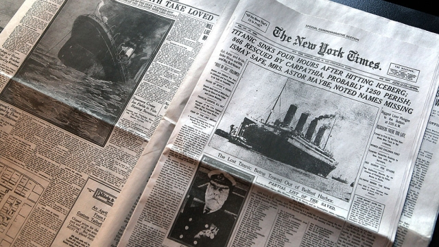 The front page of 'The New York Times' with the details of the sinking of the Titanic (Photo: John Moore/Getty Images)