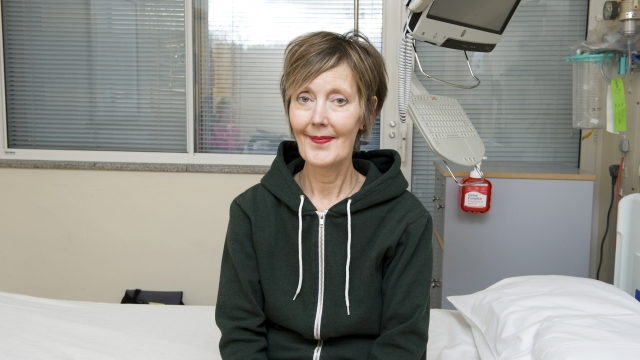 Karen Childs said the trial is 'an exciting step for the Royal Marsden Hospital and a huge step for patients like me.'