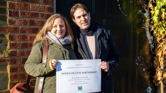 Rebecca Steinfeld and Charles Keidan have given notice for their civil partnership ceremony on 31 December after winning a long legal fight (Photo: Chrysoulla Photography)