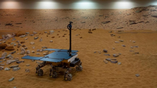 A working prototype of the ExoMars rover at the Airbus facility in Stevenage, which will help the search for signs of life (Photo: Dan Kitwood/Getty Images)