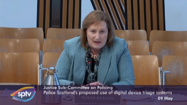 Article thumbnail: Susan Deacon was appointed in December 2017 but said she had done all she could do (Photo: Scottish Parliament)