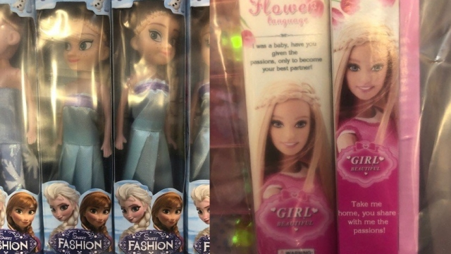 The dolls seized in Nottingham are thought to be on sale in discount shops