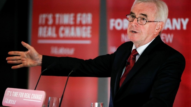 The shadow chancellor pledged to renationalise services to save Britons money