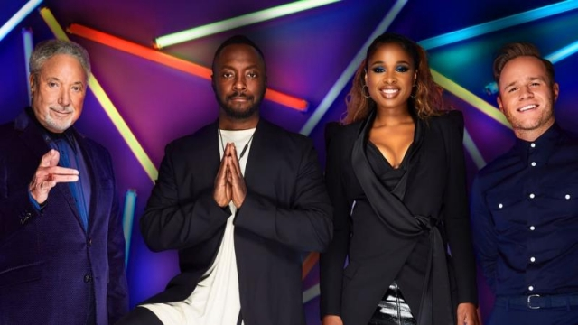 Last year's The Voice coaches: Sir Tom Jones, Will.i.am. Jennifer Hudson and Olly Murs