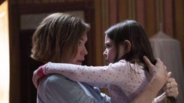 Julianne Nicholson as Glory Maitland & Scatlett Blum as Jessa Maitland in The Outsider