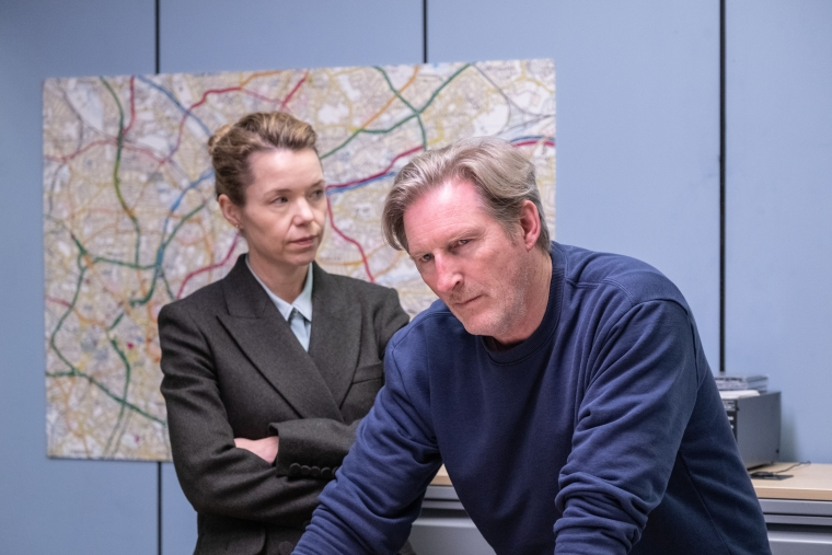 Anna Maxwell Martin and Adrian Dunbar in a scene from series five of the BBC's Line of Duty (Photo: BBC/World Productions Ltd)