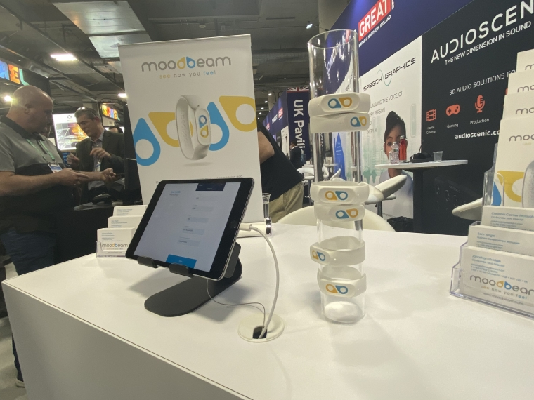 The Moodbeam wearable allows users to log their moods (Photo: Rhiannon Williams/i)