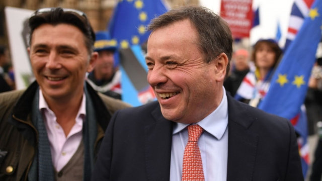 Article thumbnail: Andy Wigmore and Arron Banks created Leave.EU (Photo: Leon Neal/Getty Images)