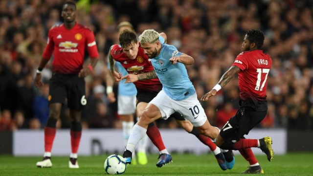 Carabao Cup action between Manchester City and Manchester United