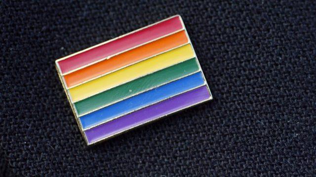 Rainbow flag badge