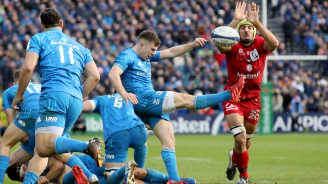 Leinster's secured a bonus point win over Lyon and look the early favourites for the trophy (AFP via Getty Images)