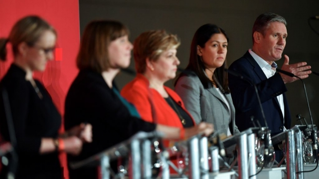 Labour leadership race has featured, from left to right, Rebecca Long-Bailey, Jess Phillips, Emily Thornberry, Lisa Nandy and Sir Keir Starmer