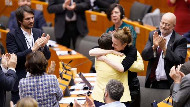 Article thumbnail: Molly Scott Cato in EU parliament