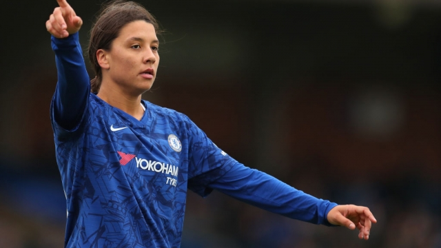 Article thumbnail: Sam Kerr shone on her Barclays FA Women's Super League debut for Chelsea against Reading (Getty Images)