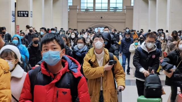The Chinese city of Wuhan, where the coronavirus outbreak began