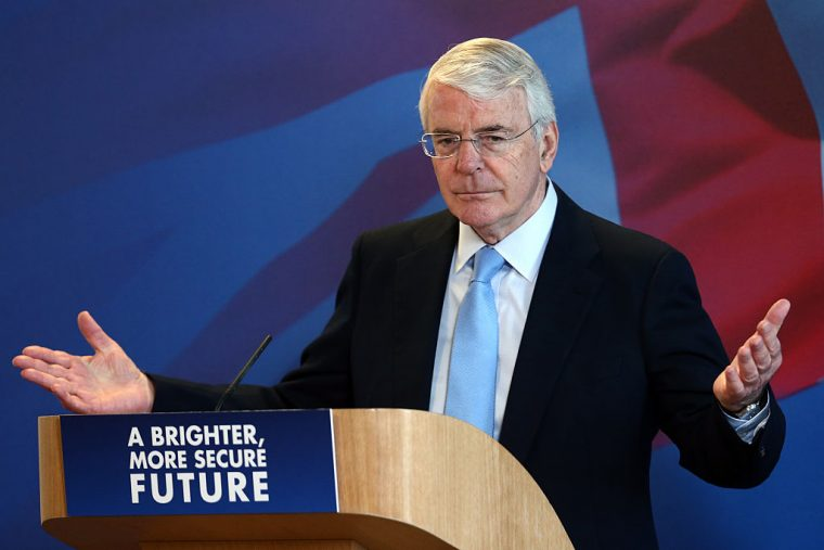 Sir John Major speaks during a Tory party conference (Photo: Carl Court/Getty Images)