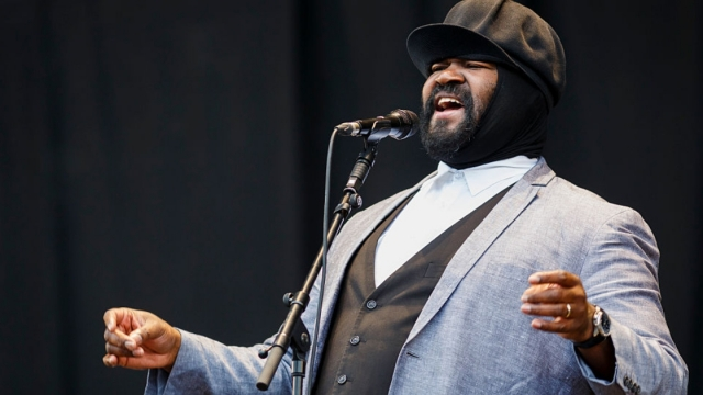 Gregory Porter performs on Day 2 of the V Festival at Hylands Park on August 23, 2015 in Chelmsford, England