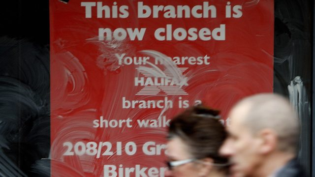 Branches of Halifax, Bank of Scotland and Lloyds will all be shuttered (Photo: PAUL ELLIS/AFP/Getty Images)