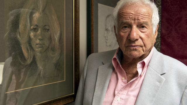 Tom Mangold, pictured with Stephen Ward's drawing of Christine Keeler, gave a candid insight into the Profumo scandal